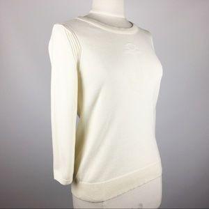 Banana Republic 3/4 Sleeve Anchor Sweater Cream M